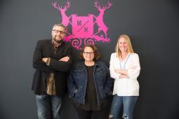Paul Stechschulte, Tanya LeSieur and Katie Ramp
