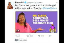 Pine-Sol #PowerMoves tweet to Mr. Clean