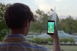A scene from a commercial for Pokémon Go.
