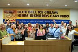 Blue Bell Creameries has selected Richards/Carlberg (Houston-based ad agency) as its 4th AOR in its 109-year history