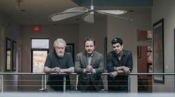 (l. to r.): RSA's Ridley Scott, Jake Scott and Chris Karabas.