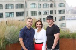 Ryan Mack (President, Virtue), Theresa Vargas Wyatt and Robert Rodriguez