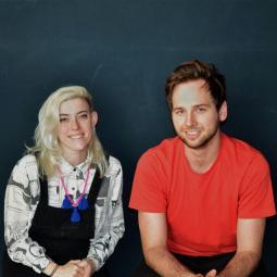 Sarah Hardcastle and Elliott Shiels