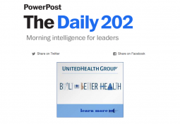 The top of the Daily 202 newsletter, built using Paloma.