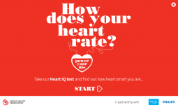 The World Heart Federation and Philips offered an online quiz to help consumers understand how their lifestyle affects their heart and what they can do to improve their health.