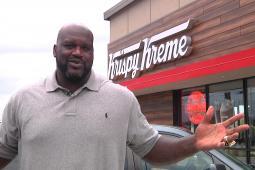 Shaq's first day at Krispy Kreme HQ in Winston-Salem.