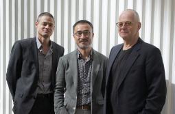 Simon Hong, center, with Jaid and Hans Hulsbosch