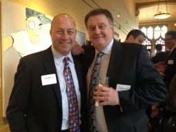 ABC-TV network sales exec Dave Mayber with Spark's John Muszynski