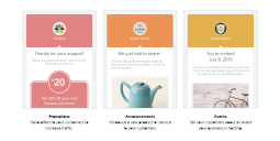 Square's merchants will be able to pick from 3 email templates.