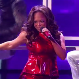 Stacy Francis performs on 'The X-Factor'