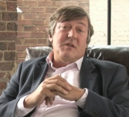 Actor and screenwriter Stephen Fry