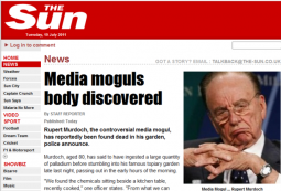 Hackers (the other kind) posted a fake news story Monday on the website for News Corp.'s Sun newspaper.