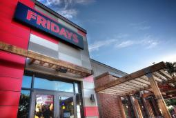 TGI Fridays' new restaurant in Addison, Texas, featuring the brand's new updated, contemporary styling.