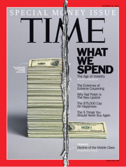 Time magazine's special on money.