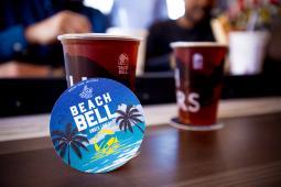Taco Bell Beach Bell beer.