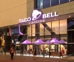 A rendering of Taco Bell's Las Vegas Strip restaurant.