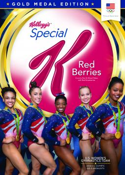 Kellogg's Gold Medal Edition boxes of Special K Red Berries feature Team USA