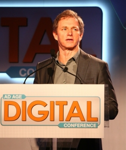 Tim Ellis, CMO of Activision, delivers a presentation at the Ad Age Digital Conference Wednesday morning in New York.