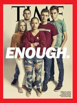 Students from Parkland, Florida, on the cover of Time.