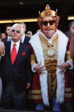 The King with trainer Bob Baffert