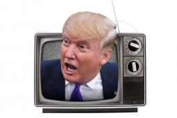 Ad Age photo composite. Trump: Getty Images; TV: iStock