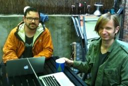 Huge associate creative director Ross Morrison and copywriter Bjorn Larsen man the @Irene account during the hurricane.