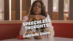 Gabrielle Union in McDonald's fresh beef campaign.