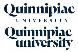 Quinnipiac University's new logo (top) and old logo (bottom).