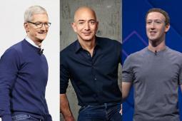 Tim Cook, Jeff Bezos and Mark Zuckerberg