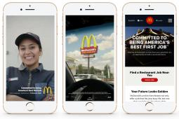 McDonald's USA is taking its recruitment message to Snapchat