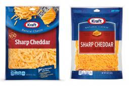 Kraft Cheese New/Old Packaging