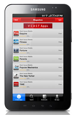 Next Issue Media apps in the V Cast store.