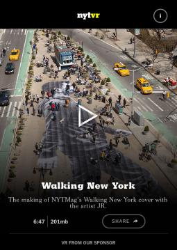 The NYT VR app, courtesy of the New York Times.