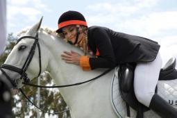 Lindsey Vonn on horseback for Reese's campaign