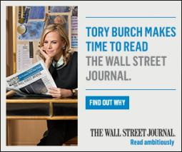 Fashion designer Tory Burch in the Journal's new campaign.