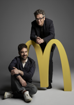 Toygar Bazarkaya (r.) was appointed as the Chief Creative Officer for We Are Unlimited, McDonald's creative agency of record by DDB North America's CCO Ari Weiss.