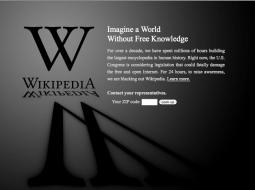 Wikipedia, Jan 18., 2012