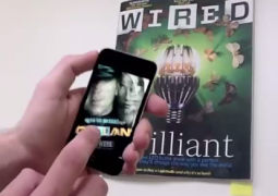 Viewing the September issue of Wired through the 'Watch Carefully' augmented reality app