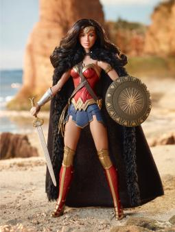 A Wonder Woman doll based on Warner Bros.'s new superhero movie. Executives at Omnicom's Beanstalk licensing agency say this year's licensing show suggests a gender-neutral toy aisle not too far in the future.