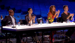 The 'X Factor' judges during a 'bootcamp' episode