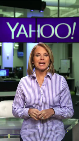 Ms. Couric hosts Yahoo's Snapchat Discover channel.