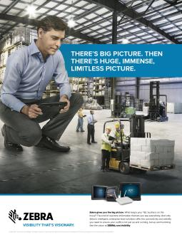 Zebra Technologies' print ad