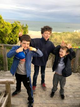 Sam (9), Benjamin (7) and Alex (4) Shapiro