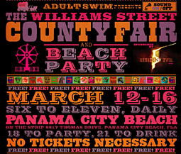 Although 'The Williams Street County Fair and Beach Party' is Adult Swim's first spring-break event, the network is no stranger to bringing branded events to college students.
