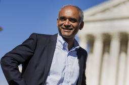 Aereo CEO Chet Kanojia outside the Supreme Court earlier this year.
