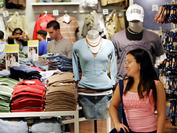 Specialty teen retailers proved to be a rare bright spot, with Aeropostale benefiting from a new gift-card distribution effort that put its cards into grocery stores.