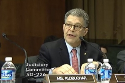 Senator Al Franken discusses his Location Privacy Protection Act this afternoon during a Senate Judiciary Committee meeting.