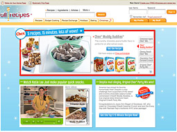 Reader's Digest Association is running a campaign for General Mills on behalf of Chex cereal and party-mix recipe on Allrecipes.com.