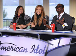 'American Idol' judges with their omnipresent Coca-Cola cups