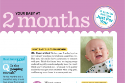 American Baby magazine is binding in pages for each subscriber's particular stage of pregnancy or newborn's age.